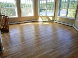 Red Oak with Satin Oil Based Polyurethane